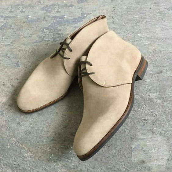 Handmade Chukka Lace up Boot Lovers Collection For Men,Adult