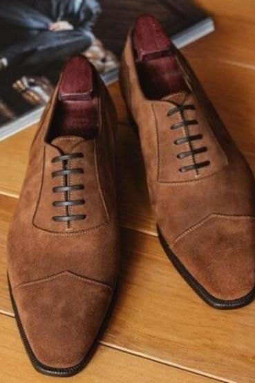Handmade Brown Wing Shoes Available