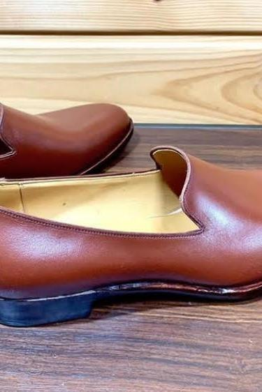 Handmade Men Formal Look Brown Genuine Leather Shoes