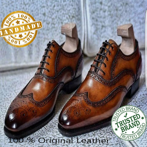 Handmade Mens Classic Limited Edition Wing Tip Brogue Collection