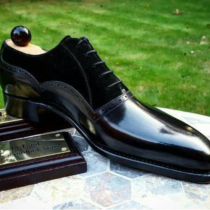 Handmade Mens Black Best Leather Formal Shoes Available