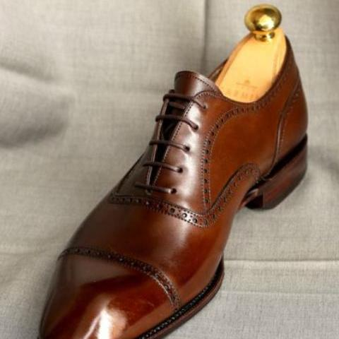 Hand Craft Brown Formal Military Office Shoes